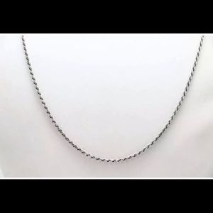 "Jewelry - 24"" 14k White Gold Rope Chain Necklace"